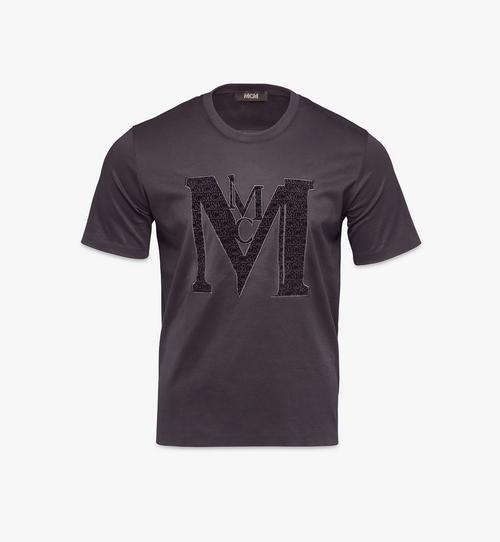 T-shirt à logo en velours pour homme