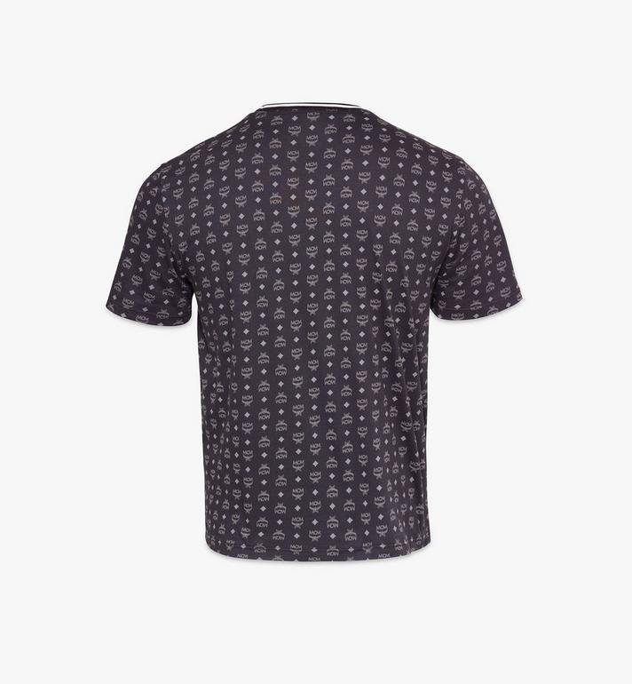 MCM Men's Visetos Print T-Shirt Black MHTAAMM05BK00M Alternate View 2