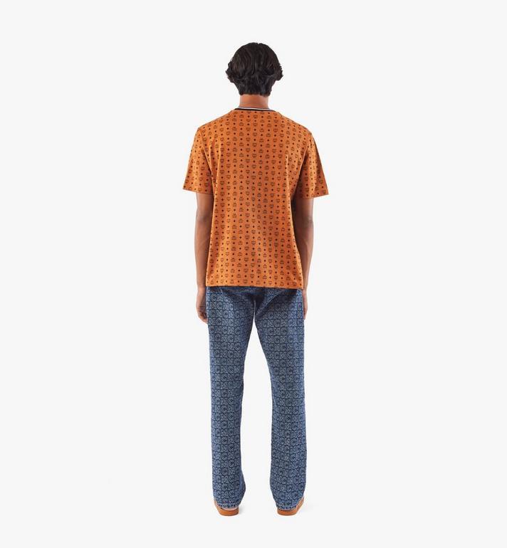MCM Men's Visetos Print T-Shirt Cognac MHTAAMM05CO00M Alternate View 5