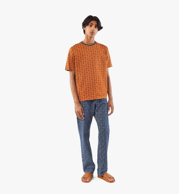 MCM Men's Visetos Print T-Shirt Cognac MHTAAMM05CO00M Alternate View 6