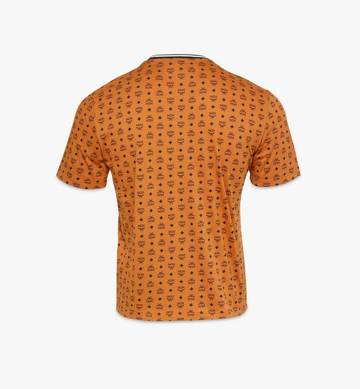 MCM Men's Visetos Print T-Shirt Cognac MHTAAMM05CO00S Alternate View 2