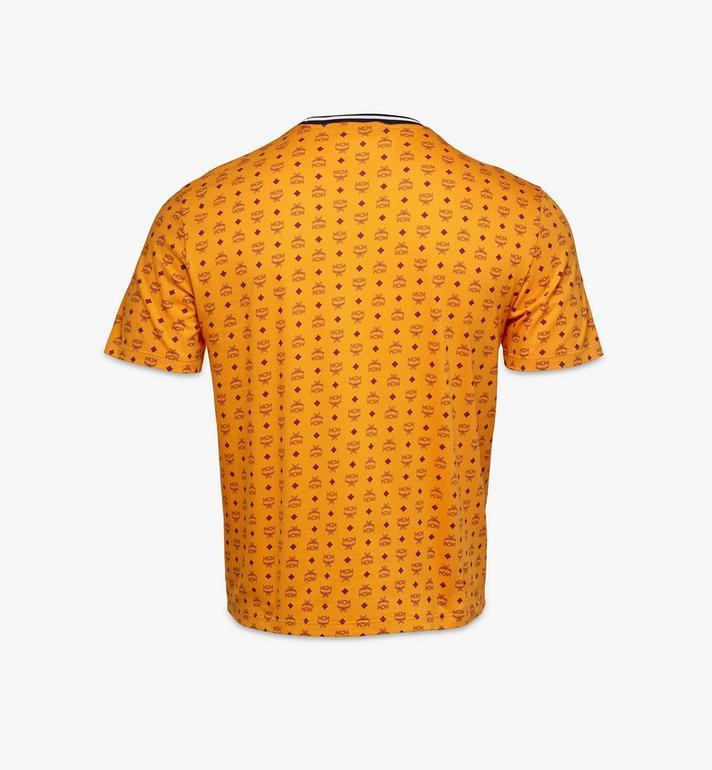 MCM Men's Visetos Print T-Shirt Gold MHTAAMM05O500M Alternate View 2