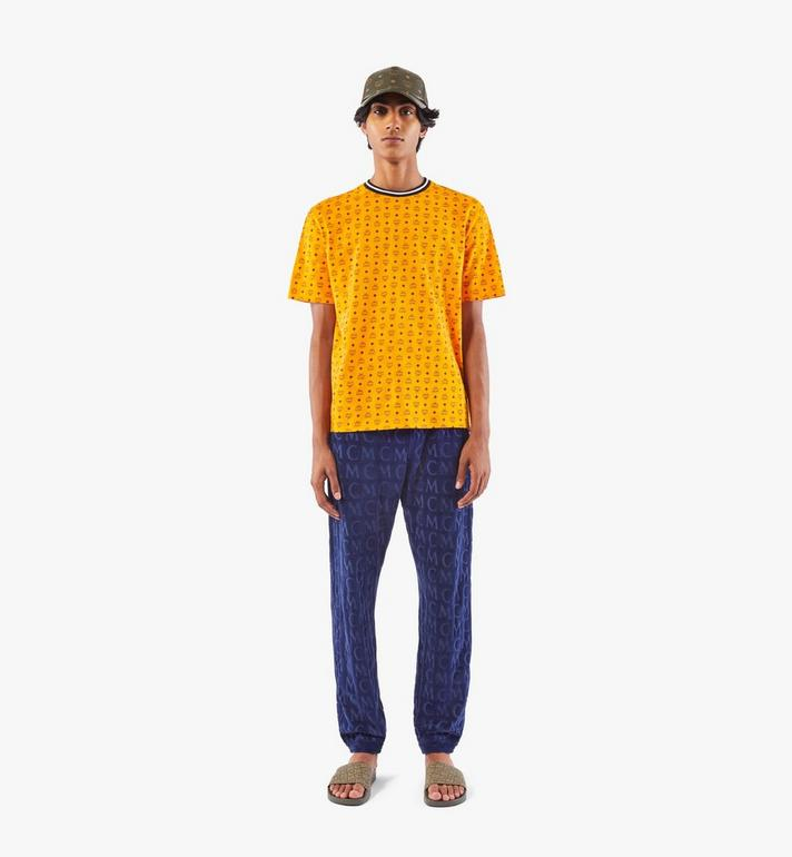 MCM Men's Visetos Print T-Shirt Gold MHTAAMM05O500M Alternate View 3