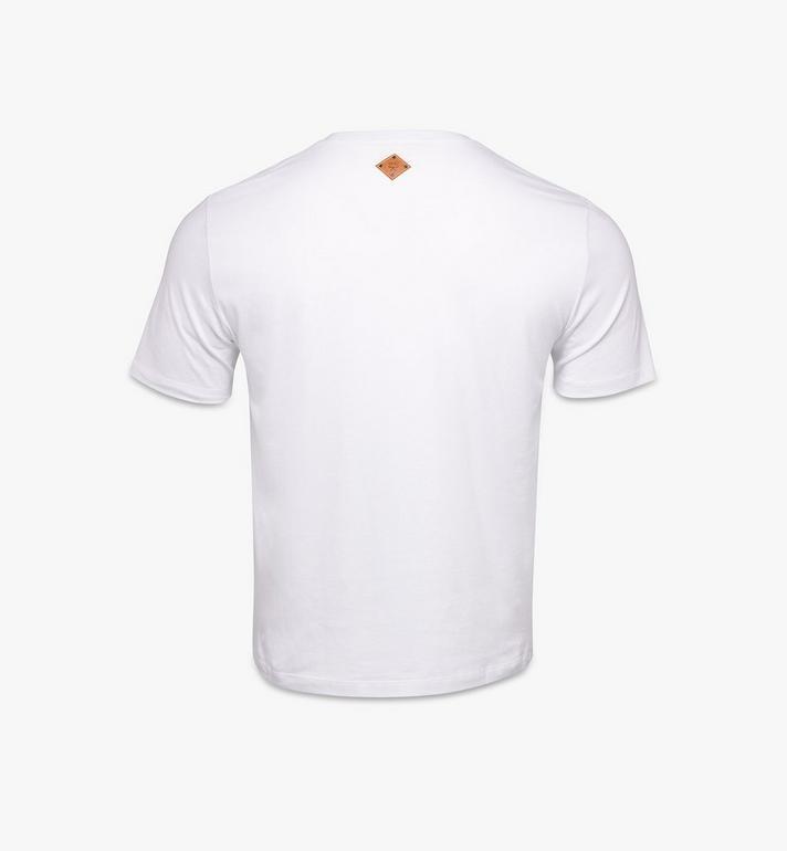 MCM Men's Berlin Bear Print T-Shirt White MHTAAMM06W200S Alternate View 2