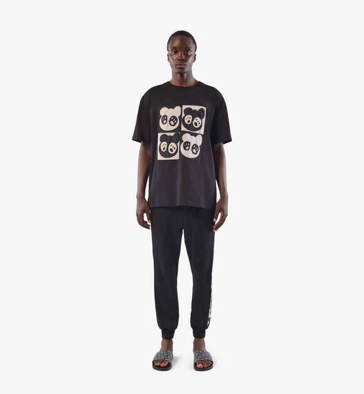 MCM Men's Bear Animation Patch T-shirt Black MHTAAMM07BK00M Alternate View 3