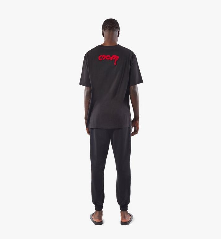 MCM Men's Bear Animation Patch T-shirt Black MHTAAMM07BK00M Alternate View 5