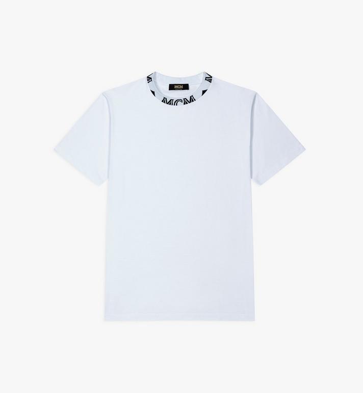 MCM Men's Logo Trim T-Shirt Alternate View