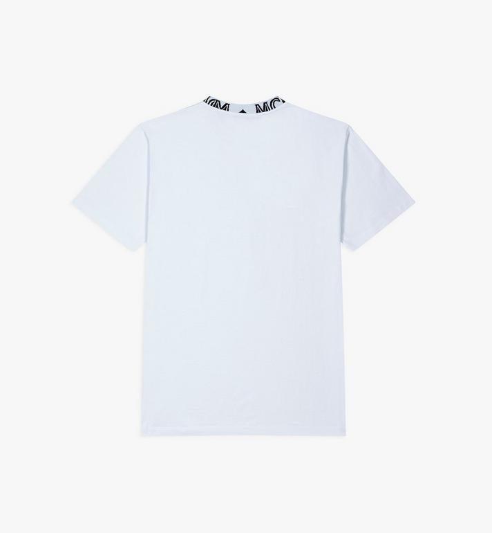 MCM Men's Logo Trim T-Shirt White MHTASMM03WT0XL Alternate View 2