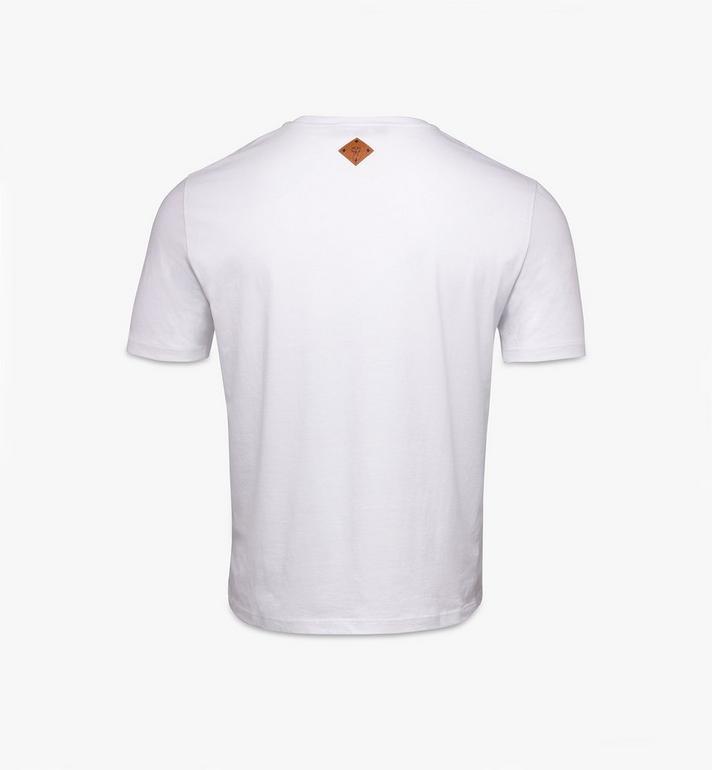 MCM Men's Classic Logo T-Shirt White MHTASMM04R600L Alternate View 2