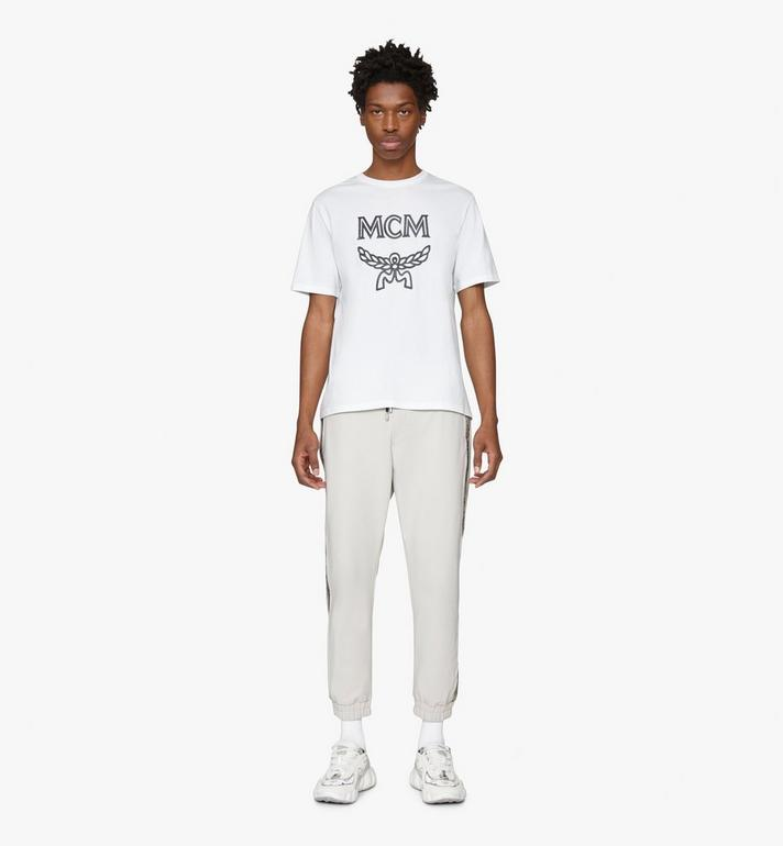 MCM Men's Logo T-Shirt White MHTASMM04WT00S Alternate View 3