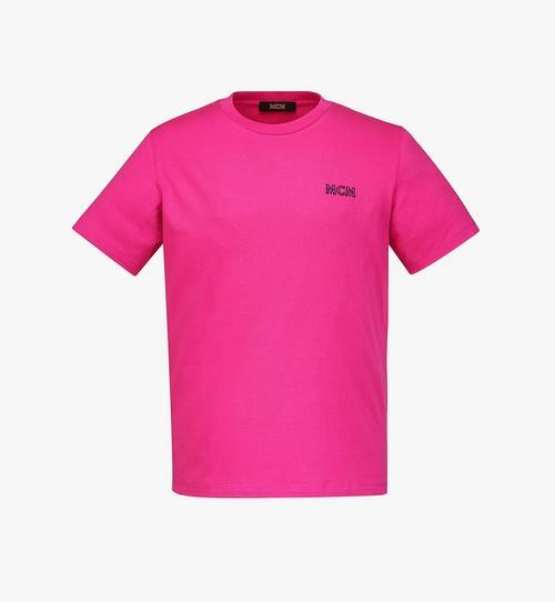 เสื้อยืดปักโลโก้ MCM Essentials สำหรับผู้ชาย ทำจากผ้าฝ้ายออร์แกนิก
