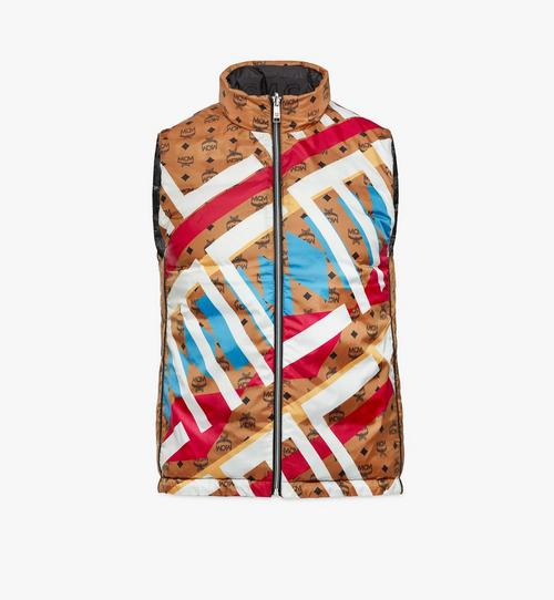 Reversible Puffer Vest in Geo Graffiti Nylon