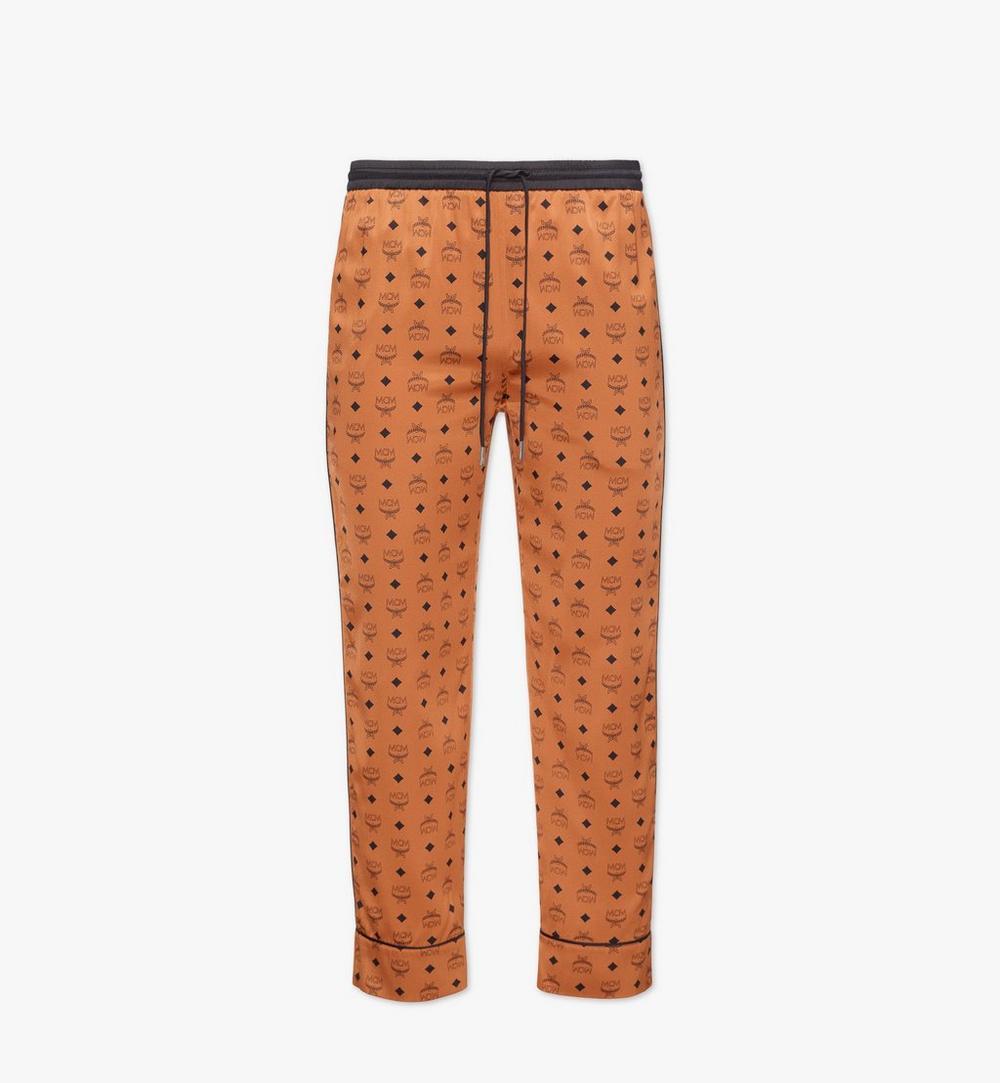 กางเกงชุดนอนผ้าไหมโลโก้คลาสสิก 1