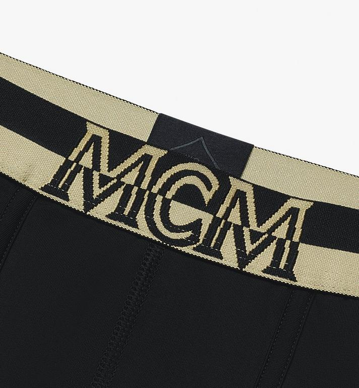 MCM Men's 1976 Long Boxer Briefs Black MHYASBM01BK00S Alternate View 3