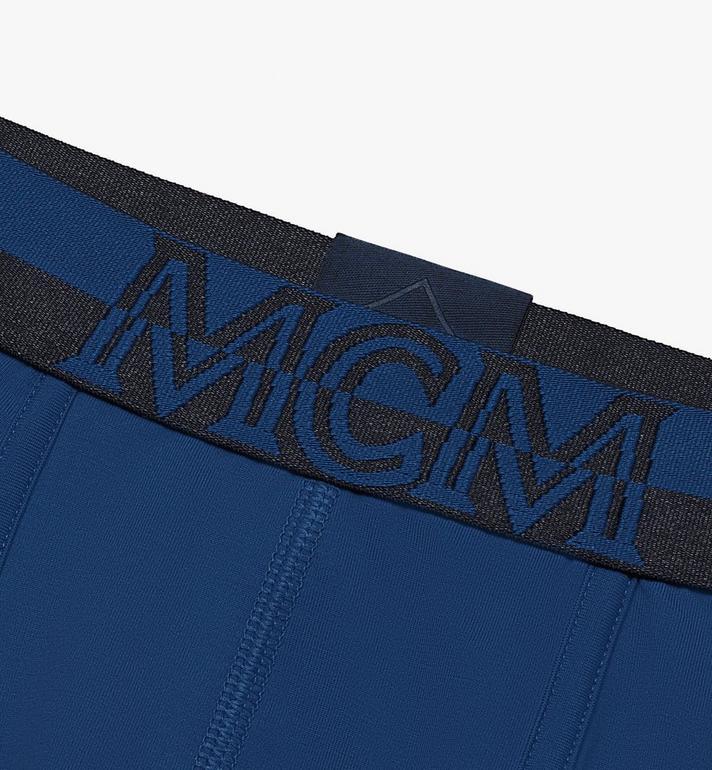 MCM Men's 1976 Long Boxer Briefs Blue MHYASBM01LU00L Alternate View 3