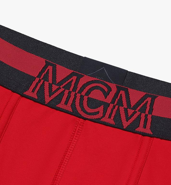 MCM Men's 1976 Long Boxer Briefs Red MHYASBM01RE00L Alternate View 3