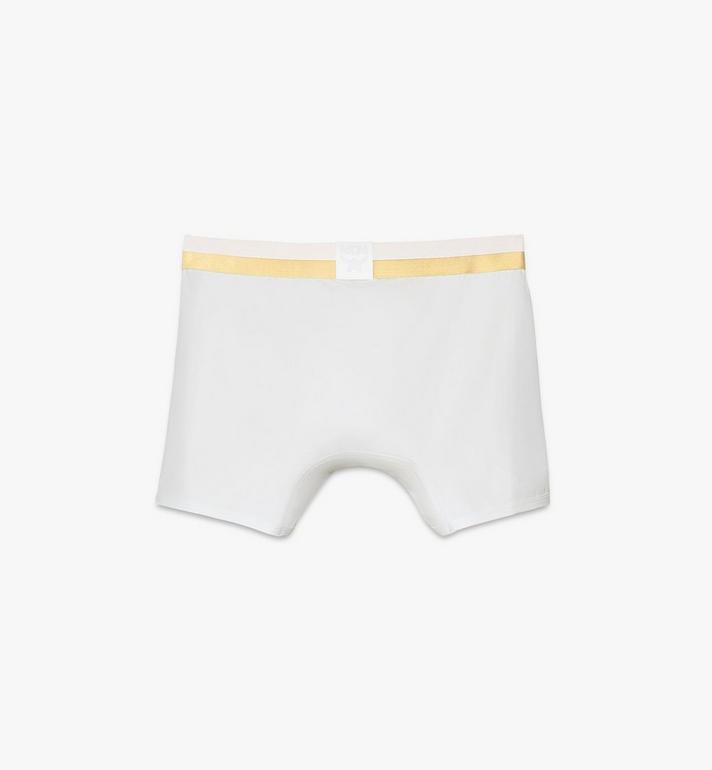 MCM Men's 1976 Long Boxer Briefs White MHYASBM01WT00L Alternate View 2