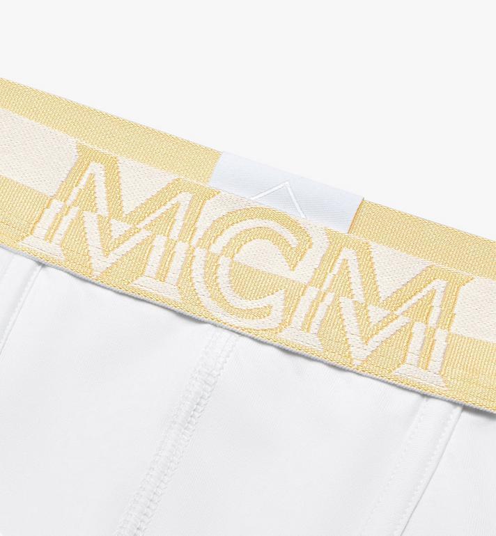 MCM Men's 1976 Long Boxer Briefs White MHYASBM01WT00S Alternate View 3