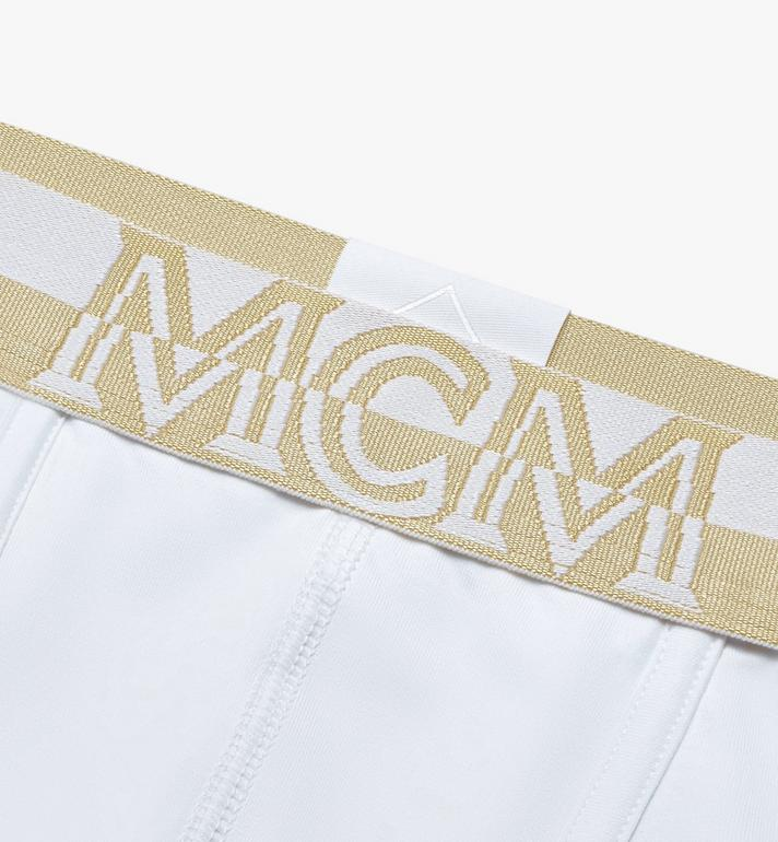 MCM Men's 1976 Long Boxer Briefs White MHYASBM01WT2XL Alternate View 3