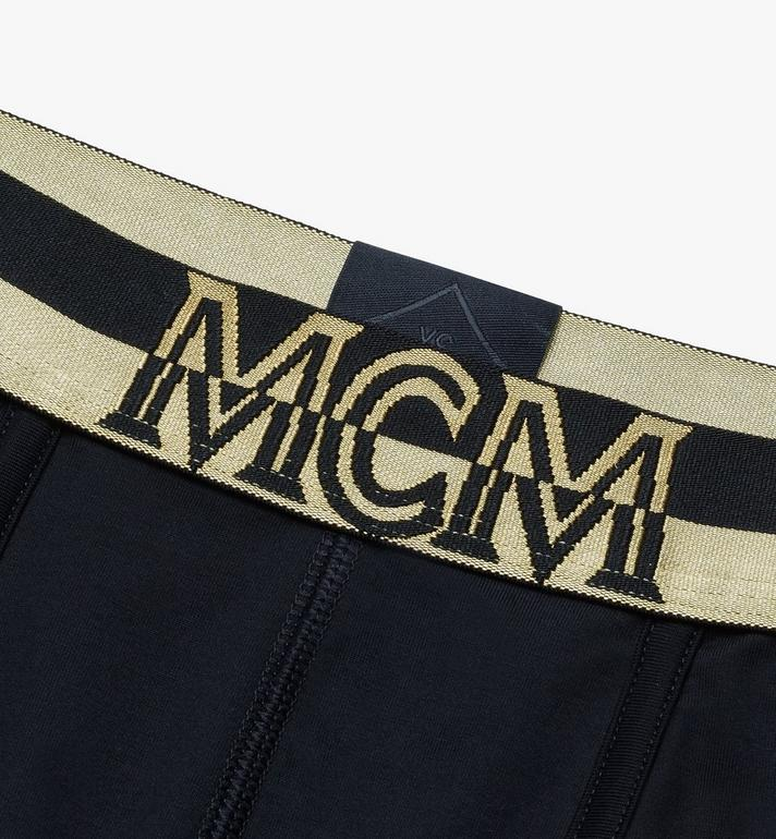 MCM Men's 1976 Short Boxer Briefs Black MHYASBM02BK00L Alternate View 3