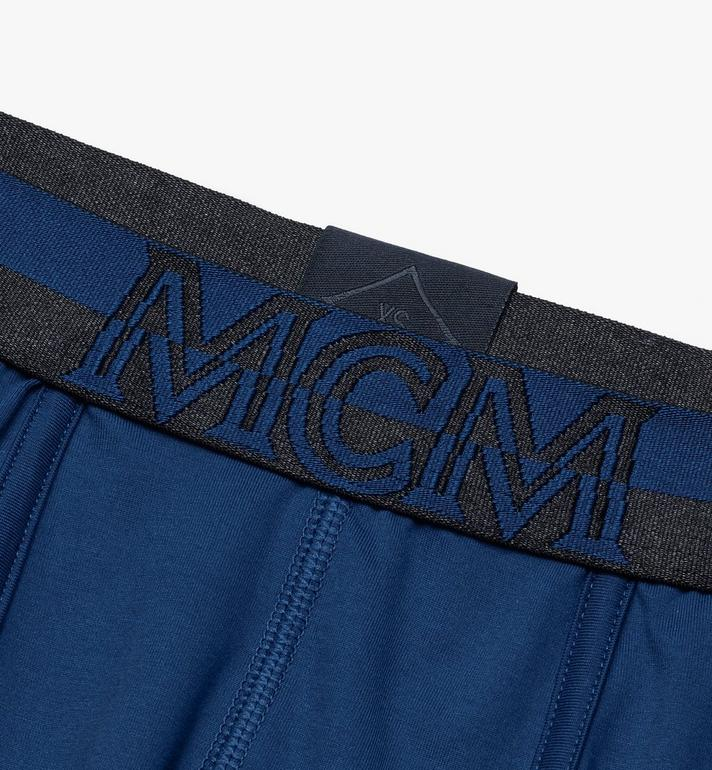 MCM Men's 1976 Short Boxer Briefs Blue MHYASBM02LU00S Alternate View 3