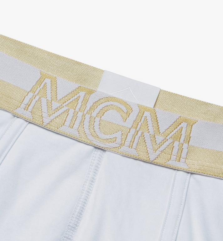 MCM Men's 1976 Short Boxer Briefs White MHYASBM02WT00L Alternate View 3