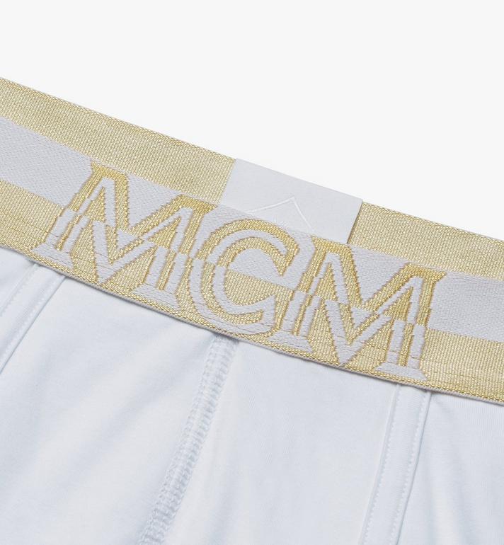 MCM Men's 1976 Short Boxer Briefs White MHYASBM02WT0XS Alternate View 3