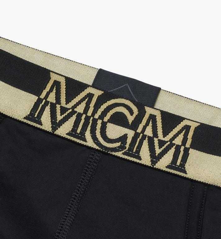 MCM Men's 1976 Logo Briefs Black MHYASBM03BK00M Alternate View 3