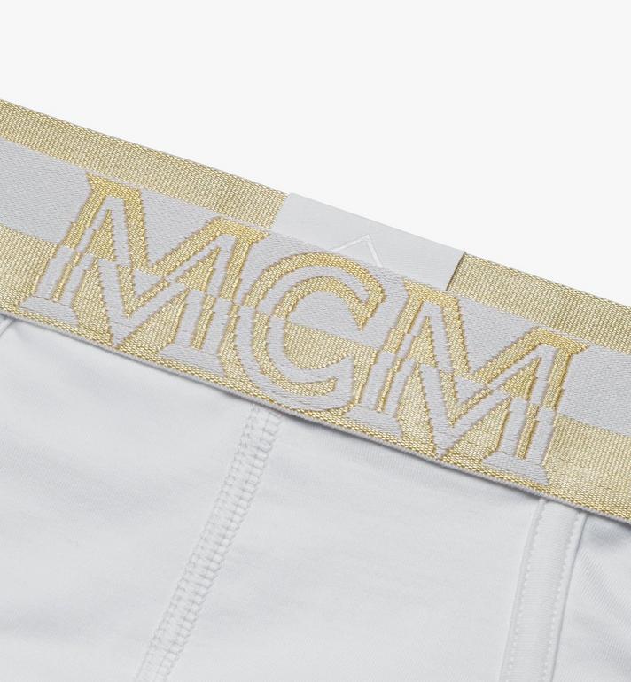 MCM กางเกงชั้นในชายโลโก้ Men's 1976 White MHYASBM03WT0XS Alternate View 3