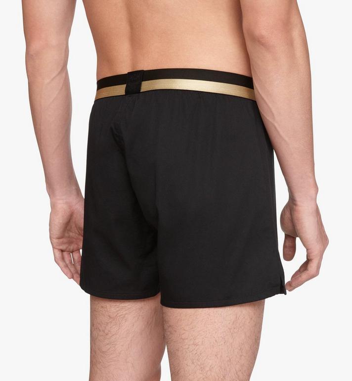 MCM Men's 1976 Woven Boxer Shorts Black MHYASBM06BK00M Alternate View 5