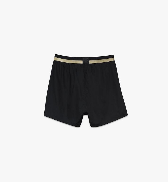 MCM Men's 1976 Woven Boxer Shorts Black MHYASBM06BK00S Alternate View 2
