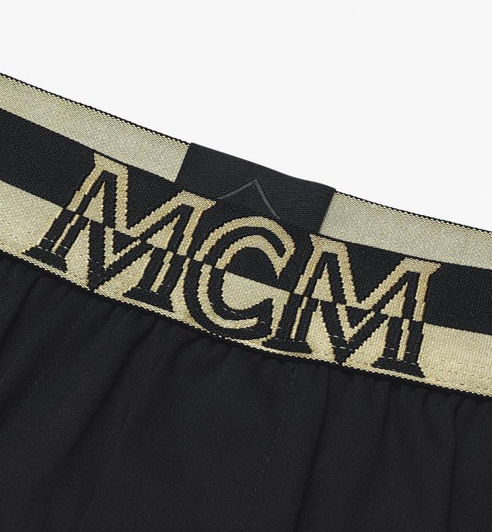 MCM Men's 1976 Woven Boxer Shorts Black MHYASBM06BK00S Alternate View 3