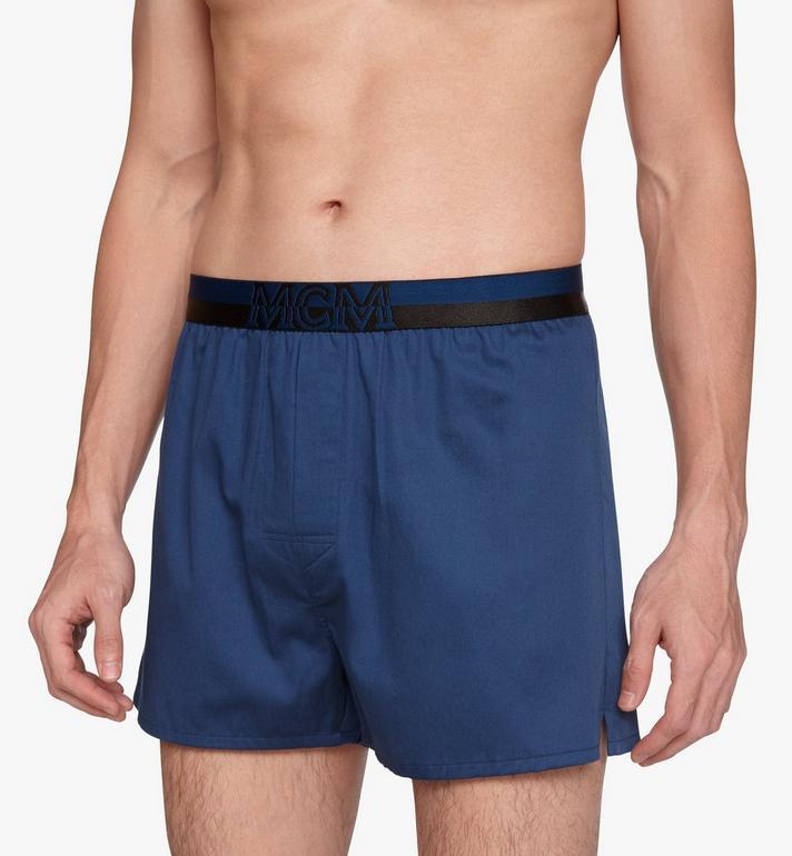 MCM Men's 1976 Woven Boxer Shorts Blue MHYASBM06LU00S Alternate View 4