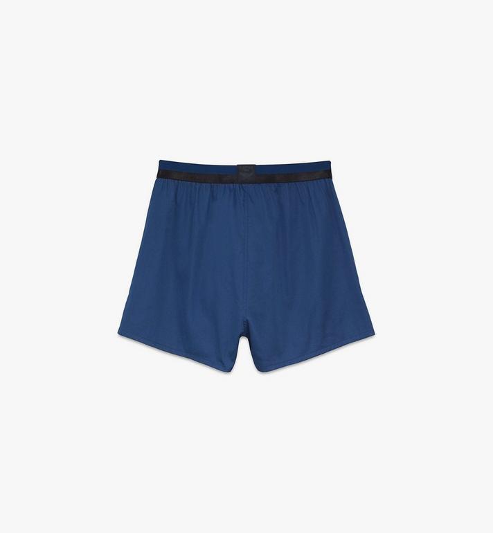 MCM Men's 1976 Woven Boxer Shorts Blue MHYASBM06LU0XS Alternate View 2