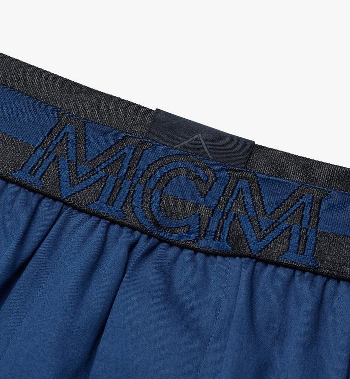 MCM Men's 1976 Woven Boxer Shorts Blue MHYASBM06LU0XS Alternate View 3