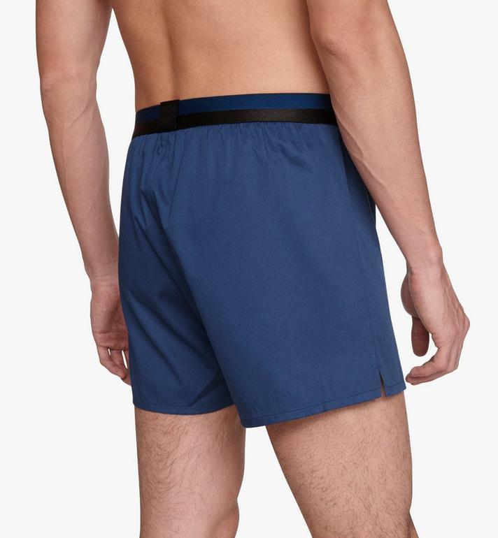 MCM Men's 1976 Woven Boxer Shorts Blue MHYASBM06LU0XS Alternate View 5