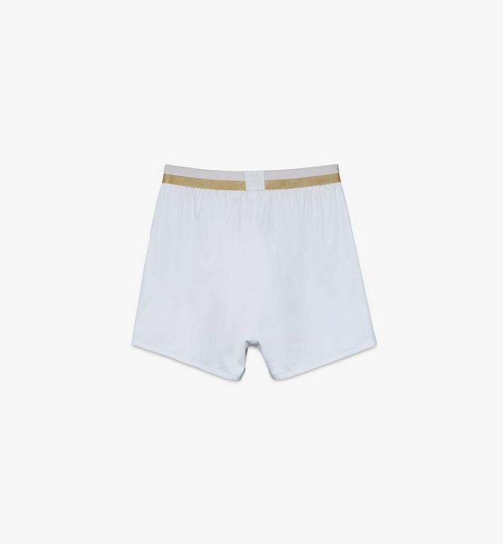 MCM Men's 1976 Woven Boxer Shorts White MHYASBM06WT00L Alternate View 2