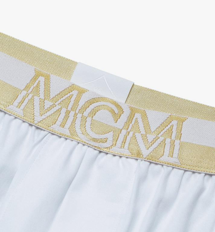 MCM Men's 1976 Woven Boxer Shorts White MHYASBM06WT00S Alternate View 3