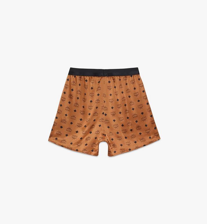 MCM Men's Silk Print Boxer Shorts Cognac MHYASBM07CO0XS Alternate View 2