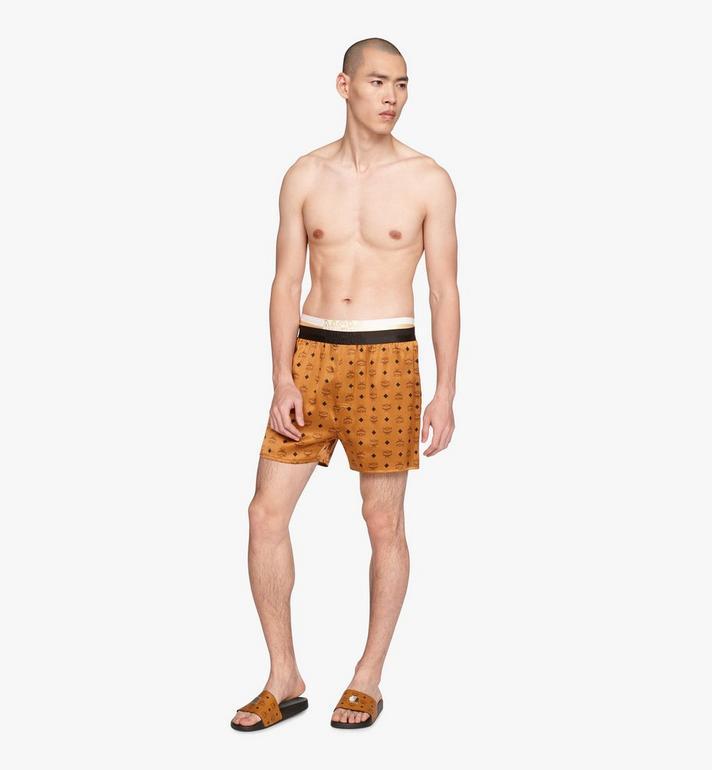 MCM Men's Silk Print Boxer Shorts Cognac MHYASBM07CO0XS Alternate View 3