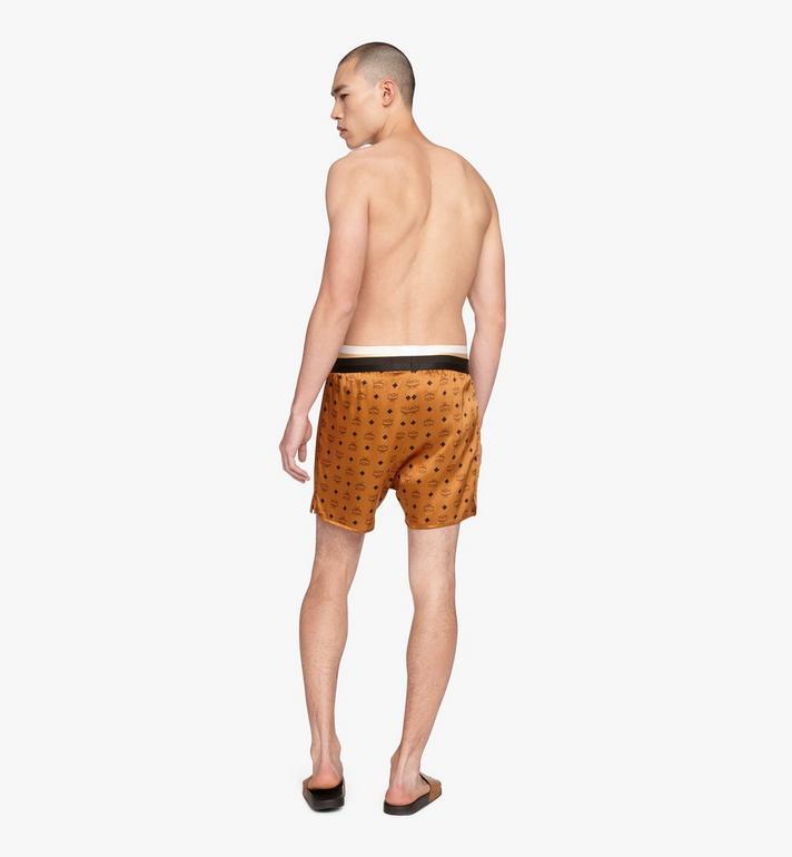 MCM Men's Silk Print Boxer Shorts Cognac MHYASBM07CO0XS Alternate View 4