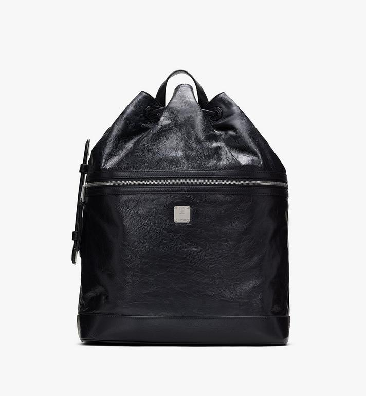 MCM Klassik Drawstring Backpack in Crushed Leather Alternate View