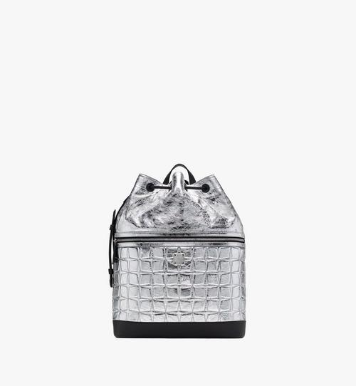 Klassik Rucksack aus rautenförmig gestepptem Leder mit Kordelzug