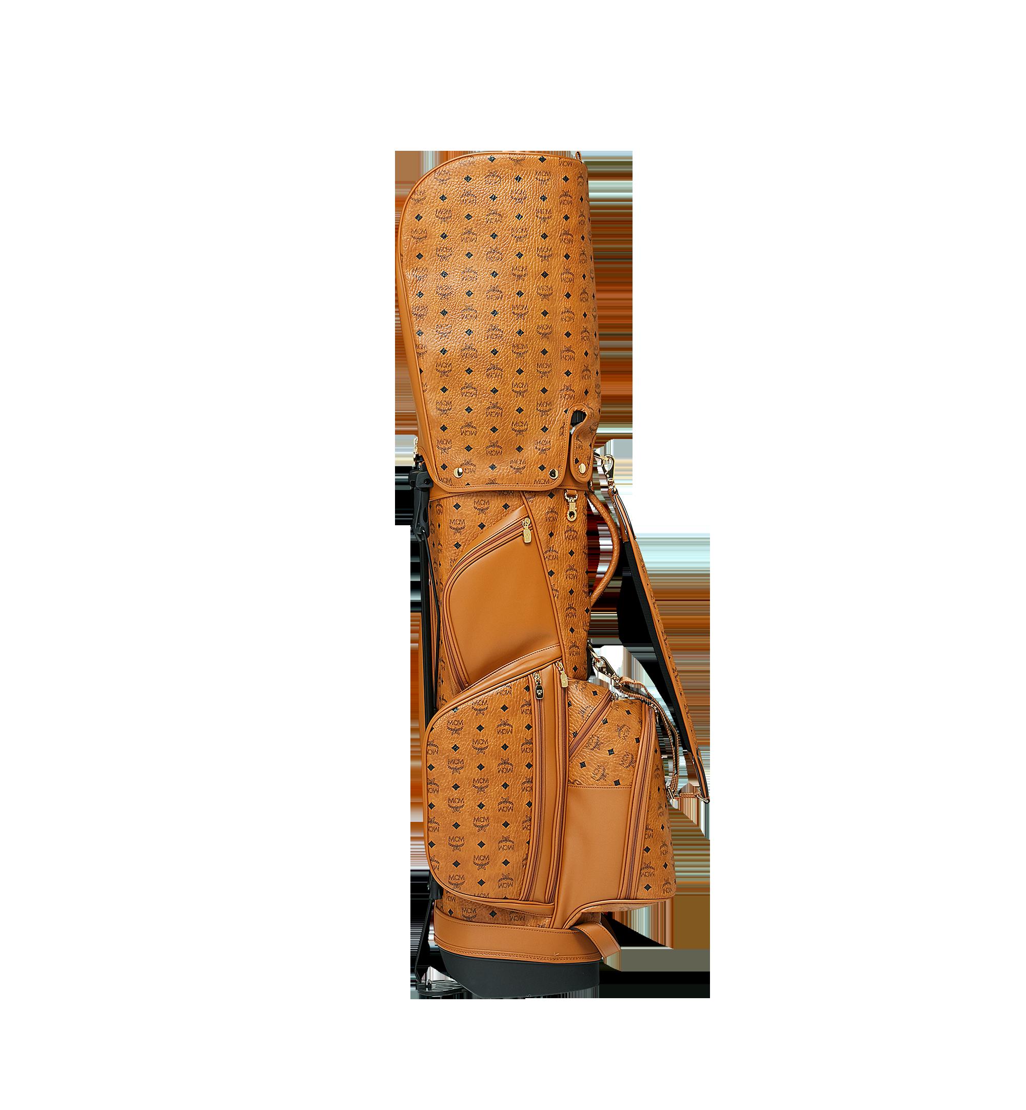 MCM Golftasche in Visetos Cognac MMG8AXL20CO001 Alternate View 3