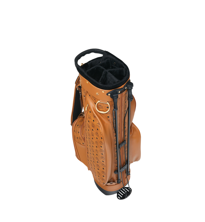 MCM Golf Bag in Visetos Cognac MMG8AXL20CO001 Alternate View 5