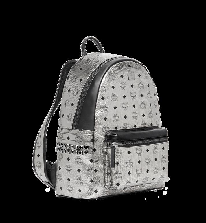 MCM Stark Side Studs Backpack in Visetos Silver MMK6AVE42SV001 Alternate View 2