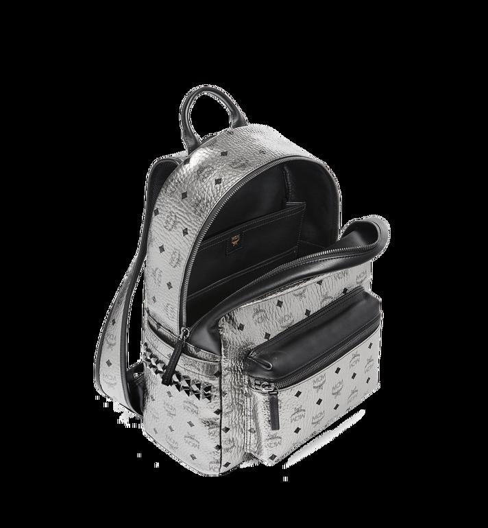 MCM Stark Side Studs Backpack in Visetos Silver MMK6AVE42SV001 Alternate View 5