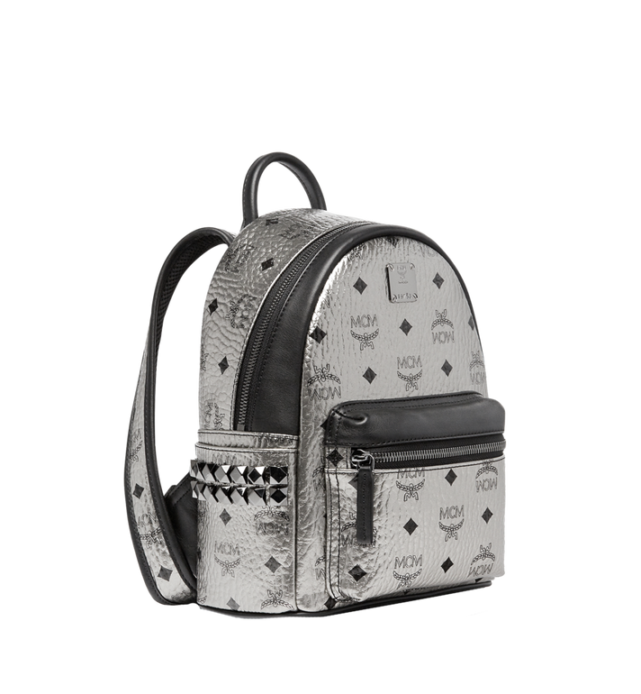 MCM Stark Side Studs Backpack in Visetos Silver MMK6AVE47SV001 Alternate View 2