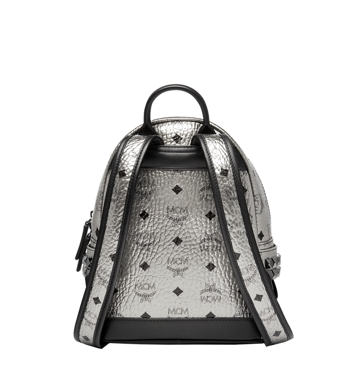 MCM Stark Side Studs Backpack in Visetos Silver MMK6AVE47SV001 Alternate View 4