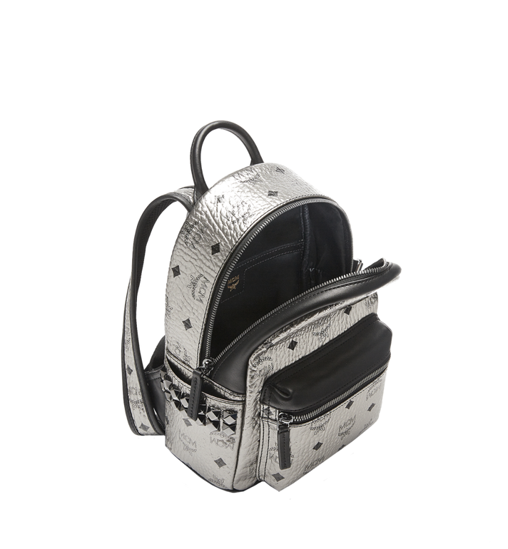 MCM Stark Side Studs Backpack in Visetos Silver MMK6AVE47SV001 Alternate View 5